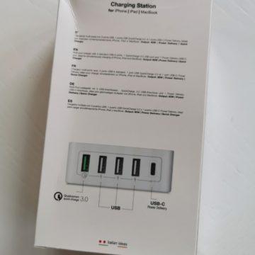 Presa di contatto con Aiino Caricatore da tavolo Premium 60W a 5 Porte