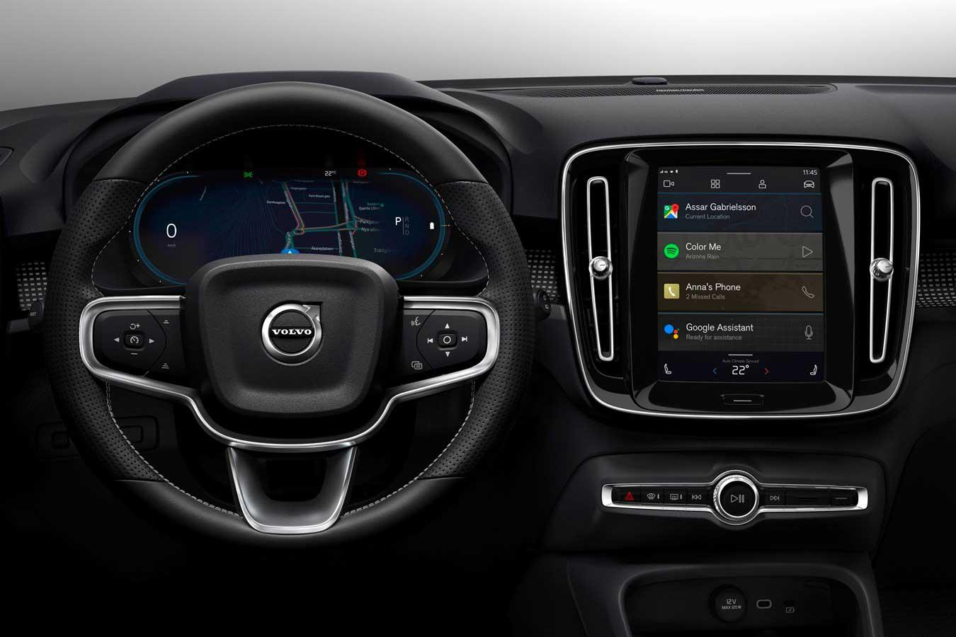 La Volvo XC40 a trazione elettrica sfrutterà un sistema di infotainment basato su Android