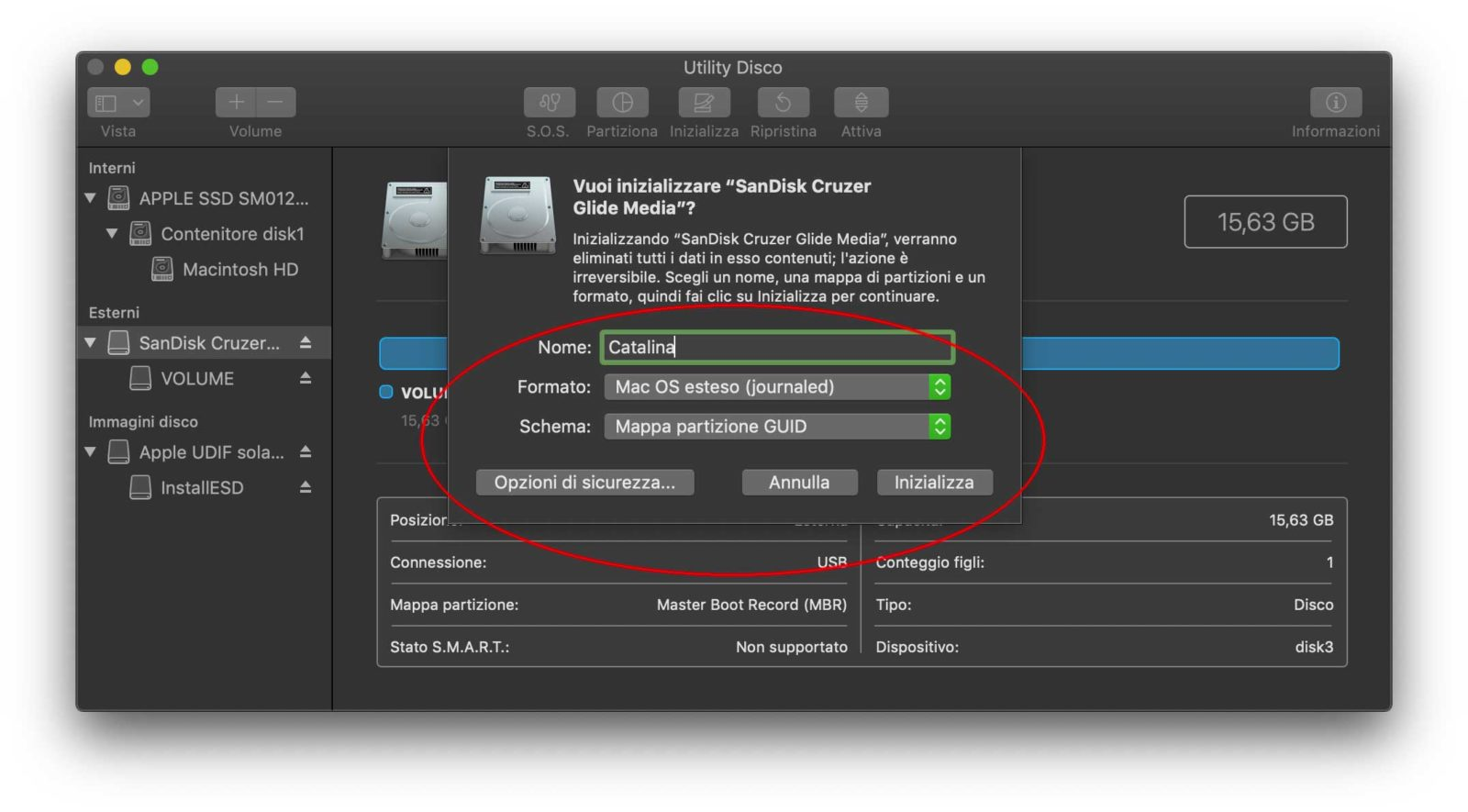 macOS Catalina, come creare una chiavetta USB e installare macOS da zero