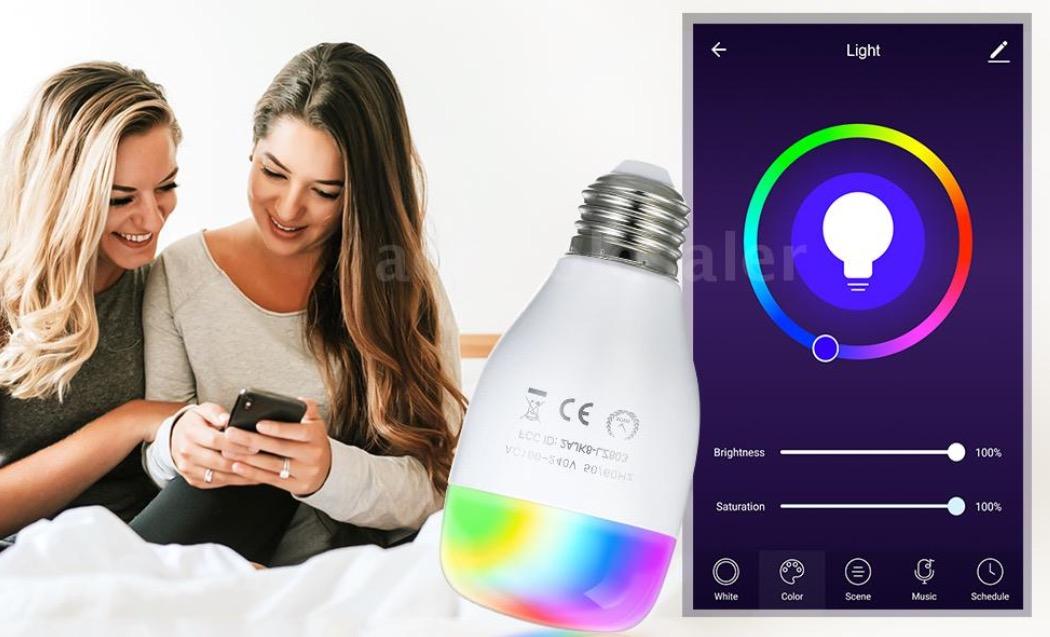 LED Light, ecco la lampada a colori che si controlla con Alexa e Google a meno di 10 euro