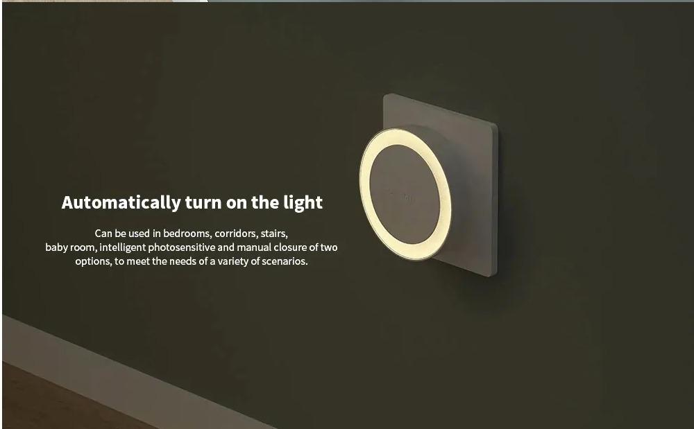 A solo 10 € per 2 luci notturne Xiaomi Yeelight, LED notturno fotosensibile