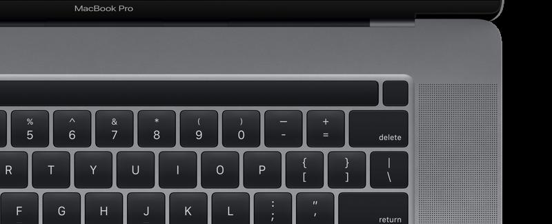 Confermato il layout del MacBook Pro 16″ con Touch Bar e Touch ID