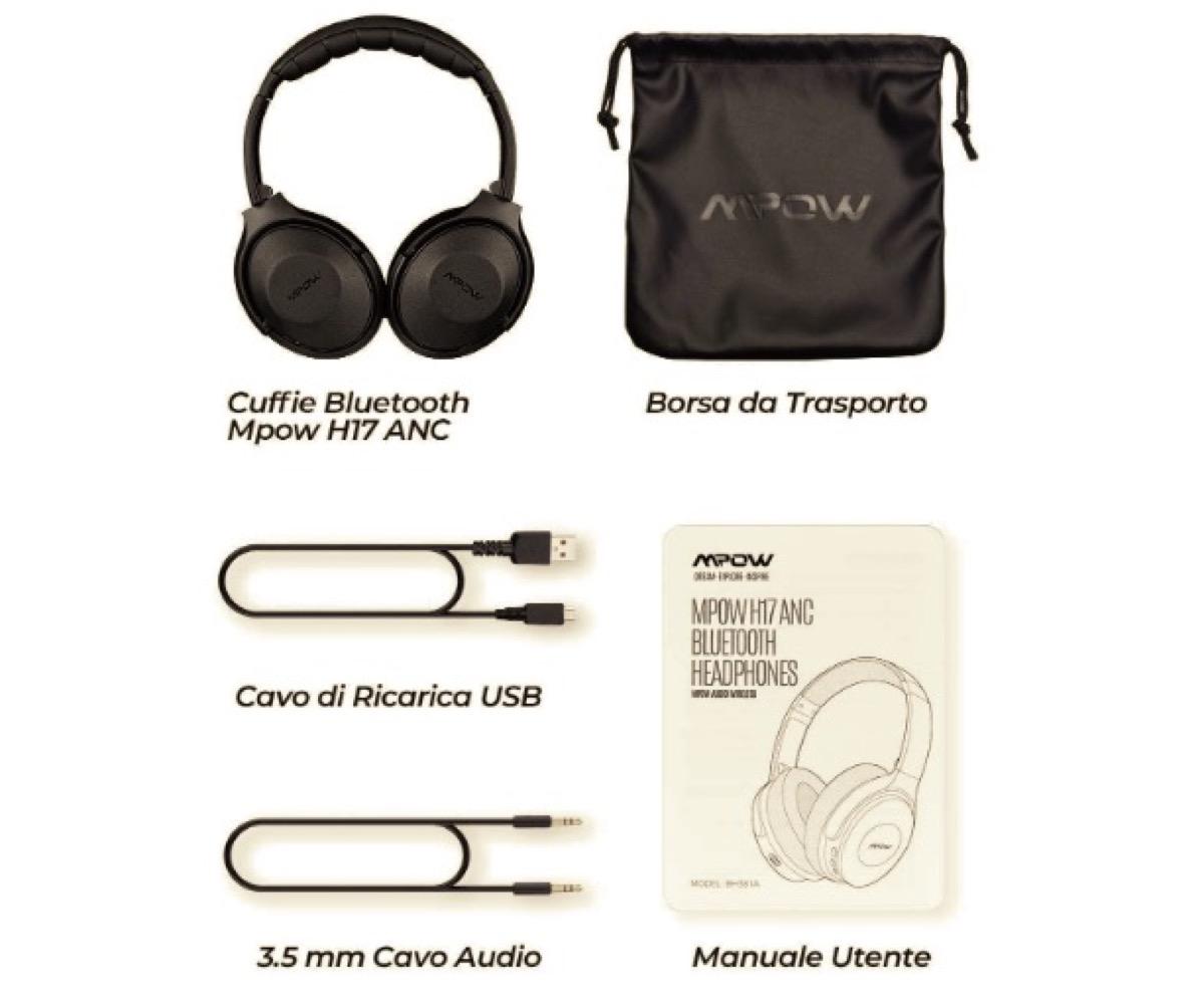 Mpow H17, cuffie con tecnologia di cancellazione attiva del rumore in offerta a 39,99 euro