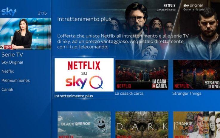 Dopo DAZN, Netflix su Sky Q dal 9 ottobre