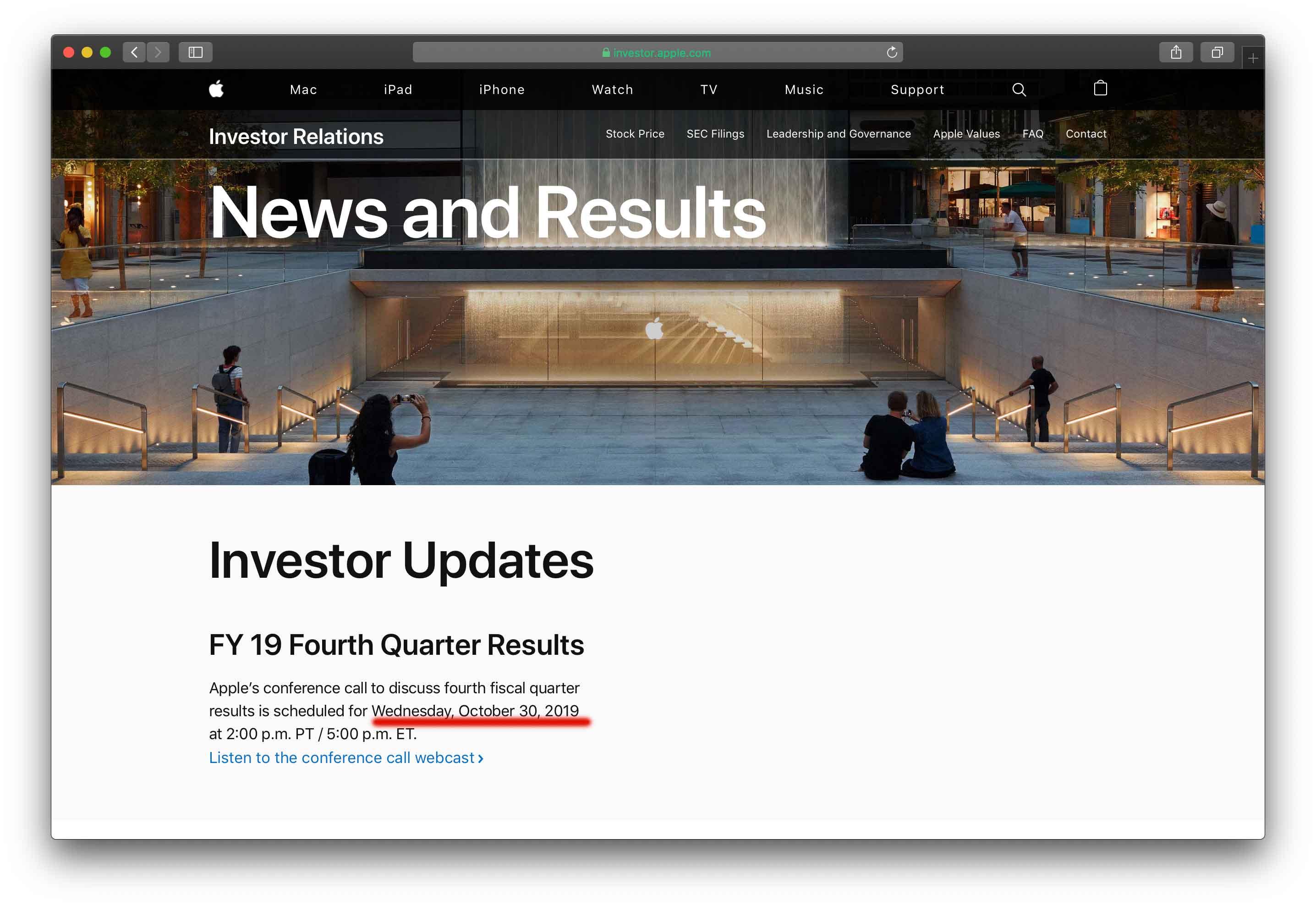 Apple, il 30 ottobre i risultati finanzari del quarto trimestre