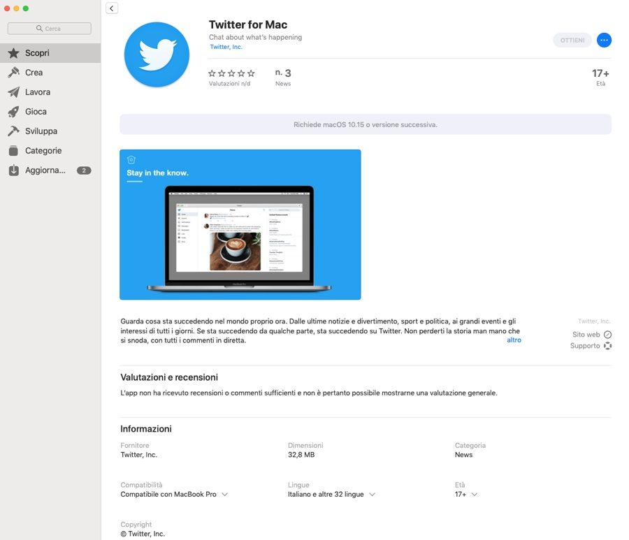 Twitter per Mac ritorna con la nuova app Catalyst disponibile su Mac App Store