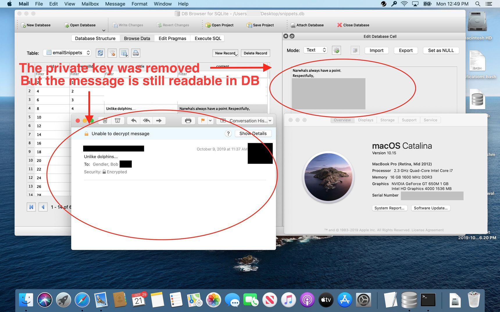 Una vulnerabilità in Mail di macOS permette di accedere a mail cifrate