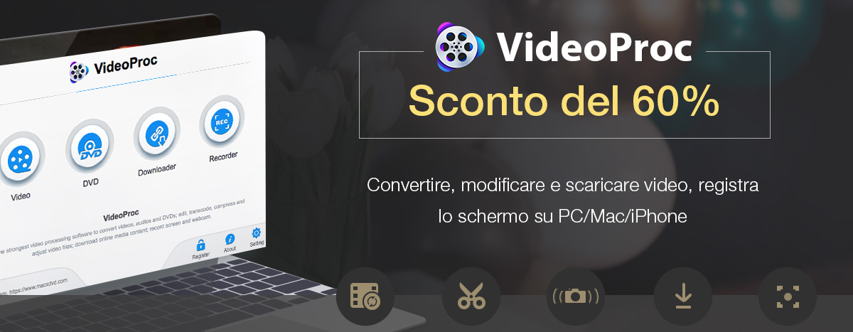 VideoProc, in sconto del 60% la suite definitiva Mac per i video 4K: in offerta per pochi giorni