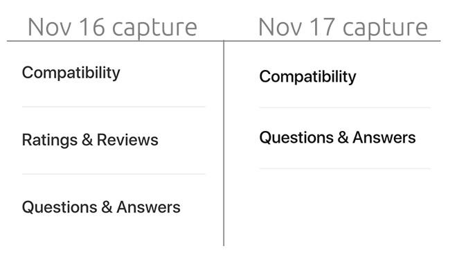 Apple rimuove la sezione recensioni dal suo store online