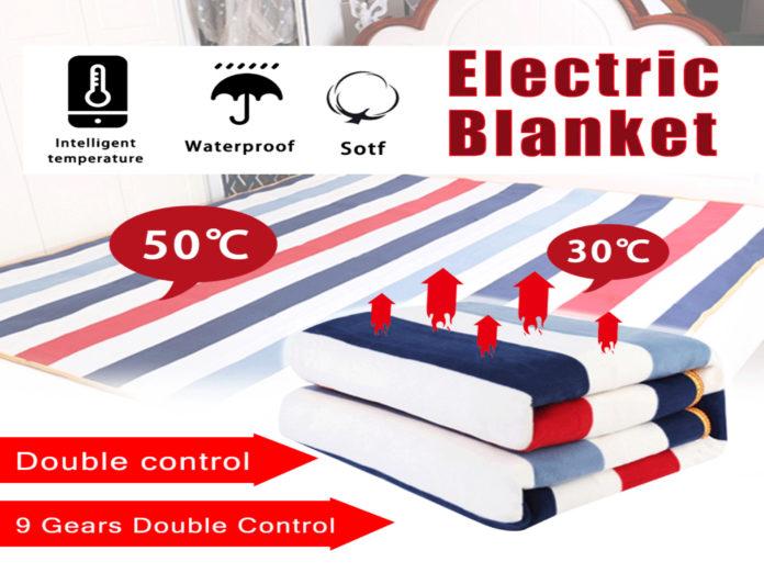 Coperta elettrica riscaldante con regolazione di temperatura in sconto a 24,89 euro
