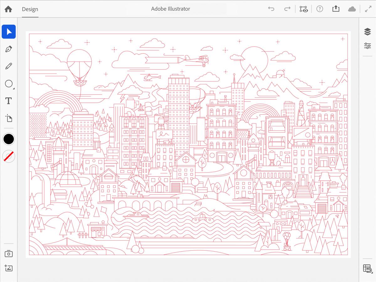 Illustrator per ipad beta