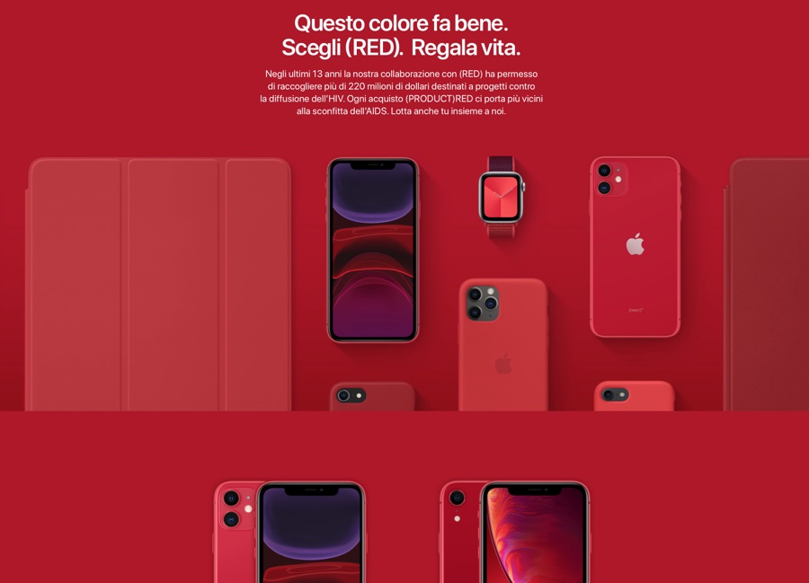 Apple dona un dollaro a (RED) per ogni acquisto per il World AIDS Day