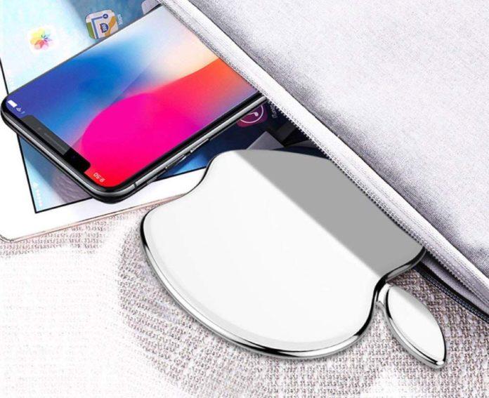 Su Amazon è in vendita un caricatore wireless Qi a forma di logo Apple
