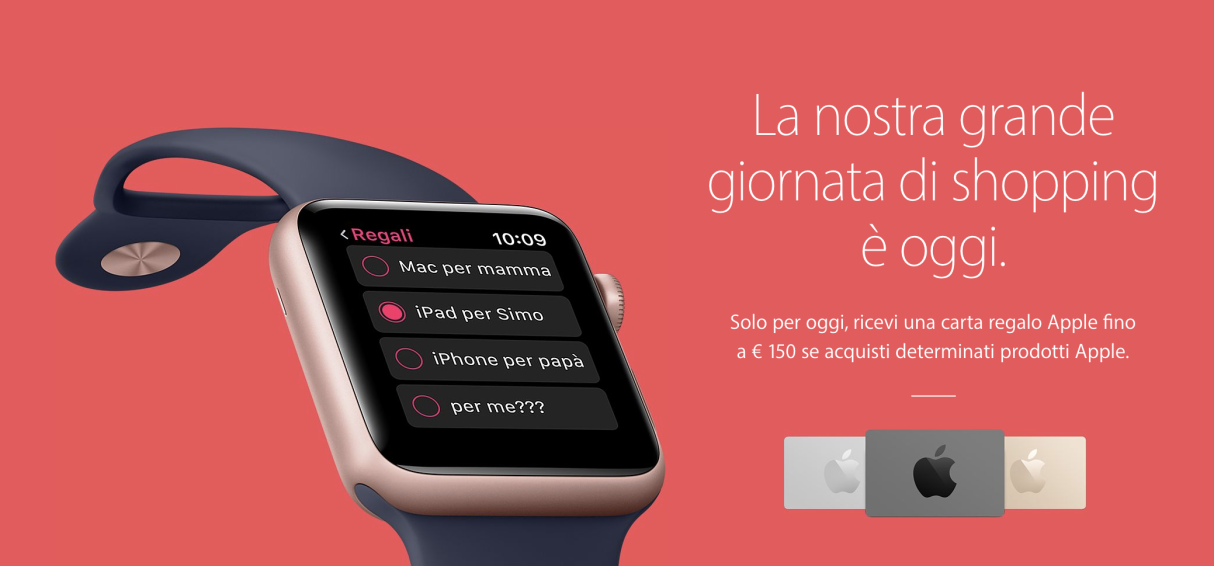Apple Black Friday quest'anno niente carte regalo iTunes di Apple?