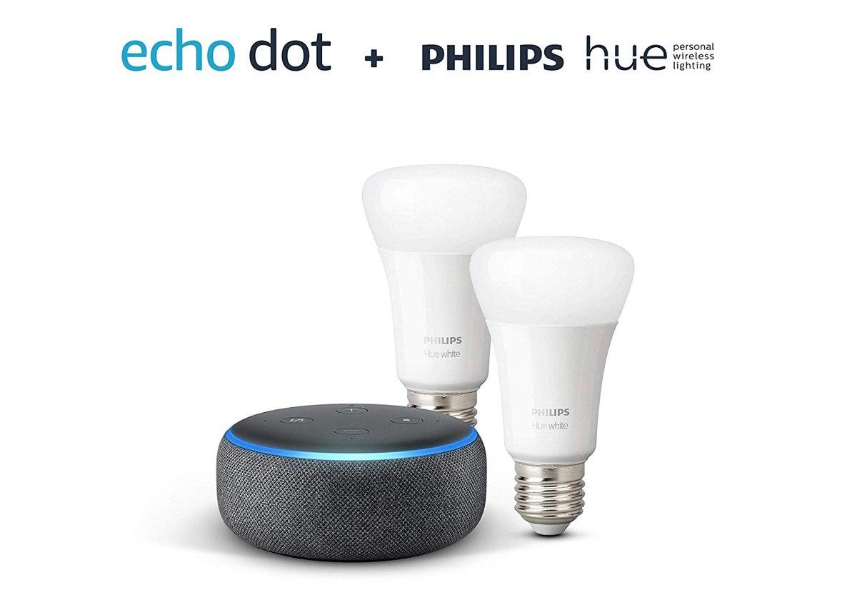 Black Friday Week: lampade Hue in super sconto e in regalo c'è anche un Echo Dot