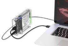 """Enclosure USB-C con doppio slot HDD e SDD da 3.5"""" in offerta a 28,79 euro spedito"""