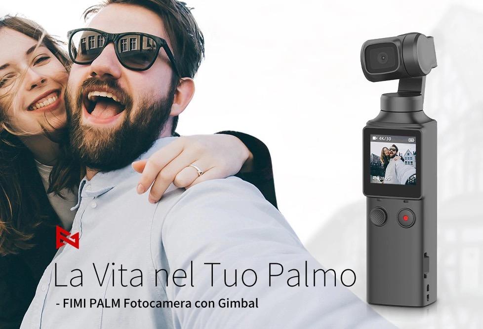 FIMI PALM, il gimbal con camera clone del DJI Osmo Pocket costa solo 136,68 euro
