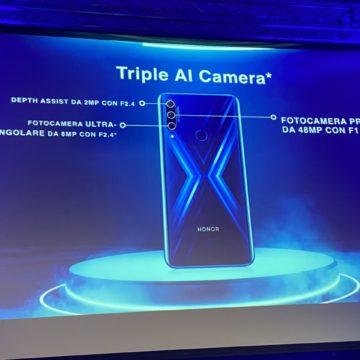 HONOR 9X in Italia a tutto schermo con fotocamera tripla 48MP e pop-up camera frontale 16 MP