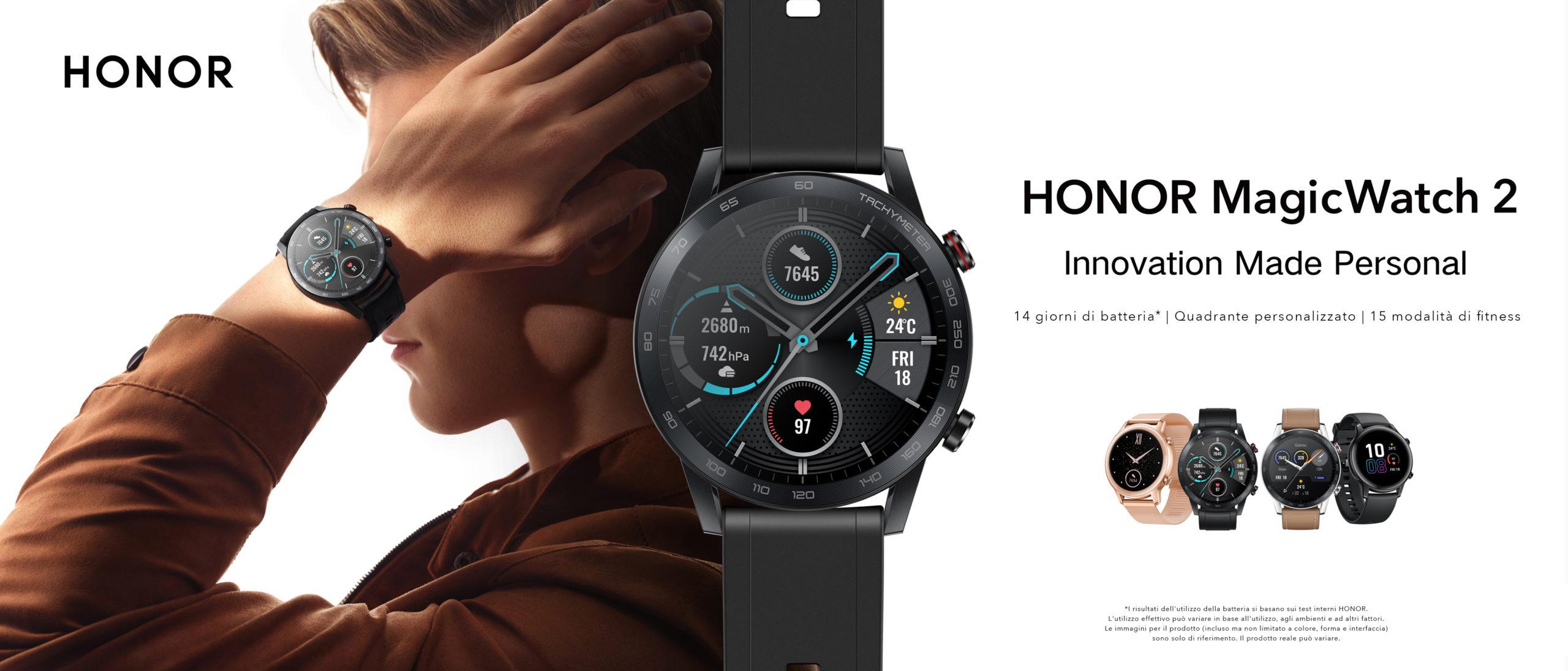 Honor presenta MagicWatch 2, l'elegante orologio con batteria da due settimane