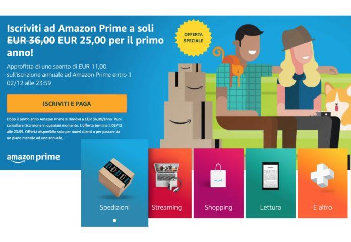 Amazon Prime scontato di 11 euro: Black Friday più facile ed economico