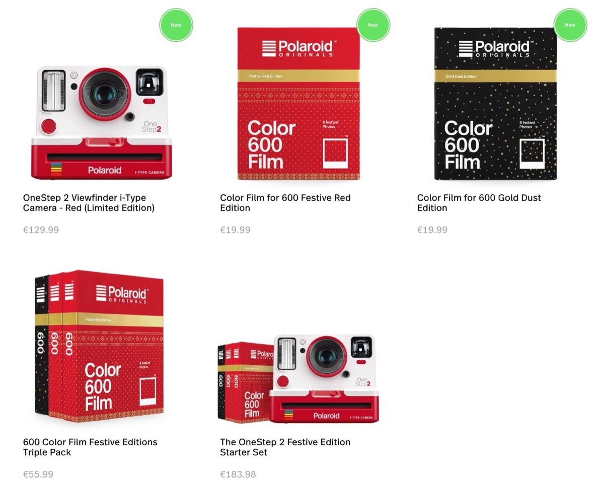 Polaroid Originals, in vendita le pellicole a tema natalizio