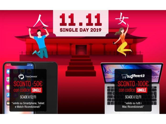 Sconti Single Day: fino a -100€ su TrenDevice e BuyDifferent. Imperdibili offerte su Smartphone, Tablet e Mac Ricondizionati
