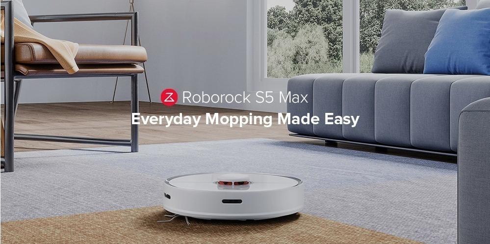 Xiaomi Roborock S5 Max, il nuovo aspirapolvere robot che riconoscere la superfici di lavoro