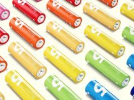 Batterie AA serie Xiaomi ZI7, con bassa autoscarica e coloratissime