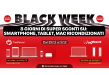 Ultimo giorno Sconti Black Week: Smartphone, Tablet e Mac Ricondizionati in offerta limitata su TrenDevice e BuyDifferent