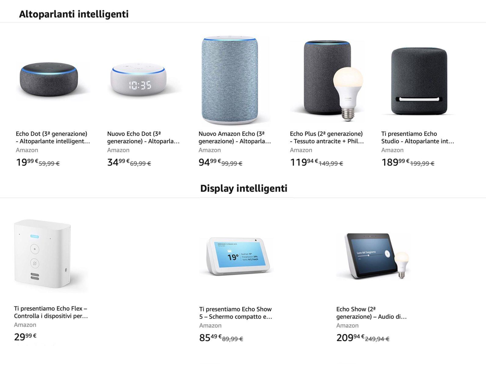 Speaker e bundle domotici Amazon Echo con Alexa: cosa scegliere?