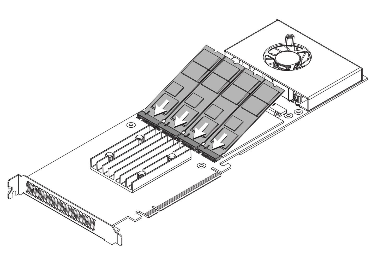 Con la scheda PCIe Sonnet M.2 4×4 si sfruttano quattro unità SSD M.2 NVMe su Mac Pro vecchi e nuovi