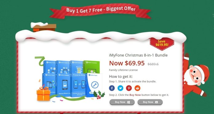 Offerte di Natale iMyfone: un regalo ogni giorno e software a partire da soli 9.90 $