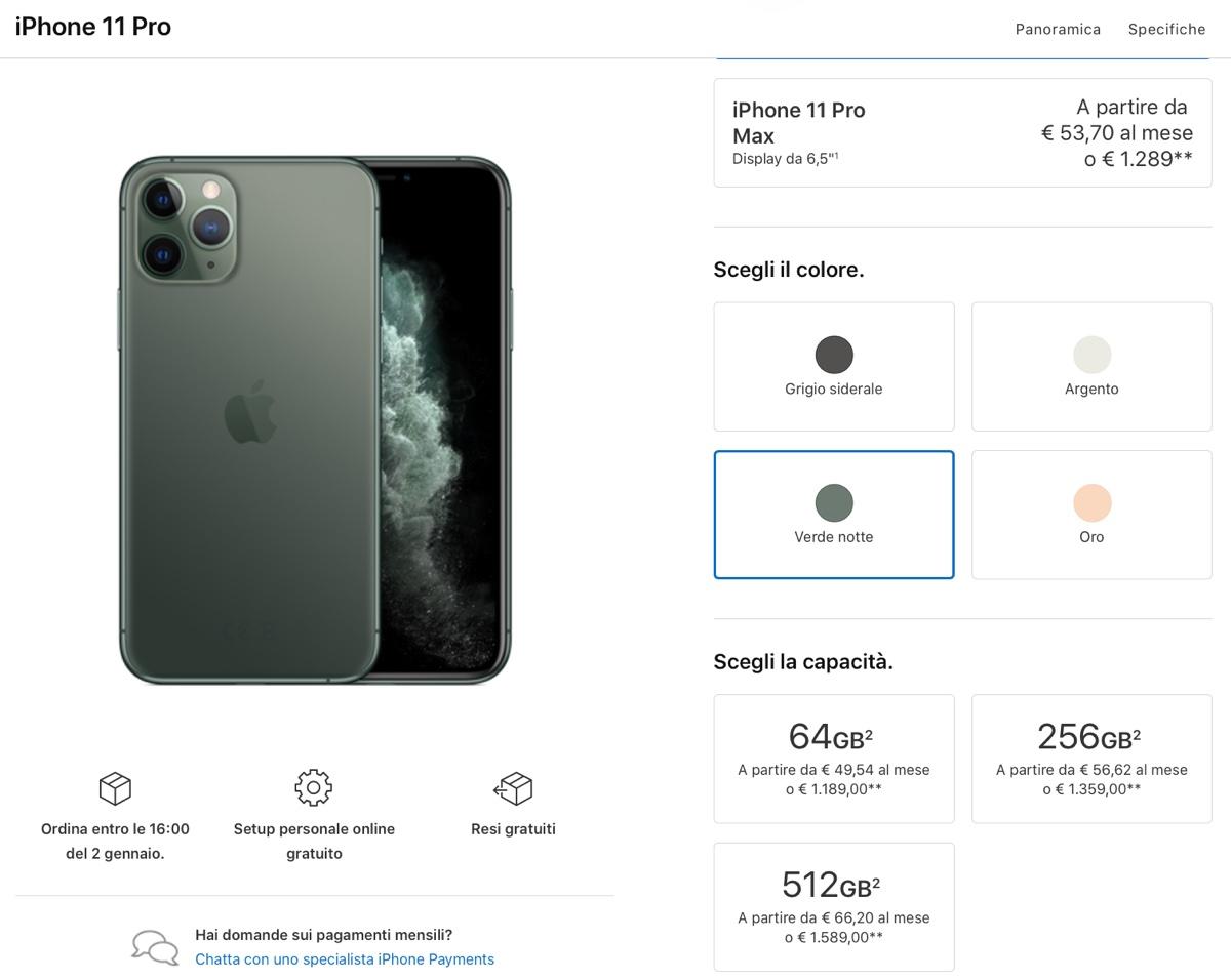 Tim Cook «iPhone 11 Pro Verde notte è possibile grazie a Seiko Advance»