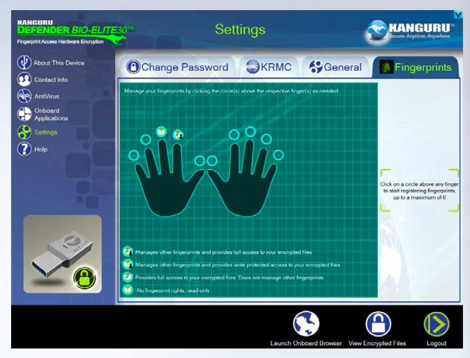 Kanguru Defender Bio-Elite è una chiavetta accessibile con impronta digitale e crittografabile