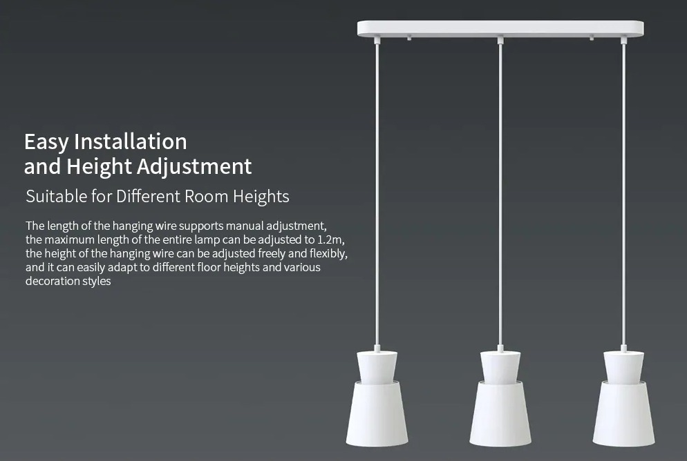 Da Xiaomi Yeelight la tripla lampada a sospensione compatibile con Alexa e Google Home