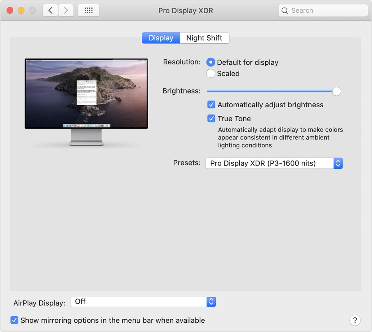 Apple Pro Display XDR, i Mac compatibili
