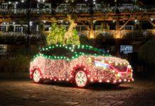 Nissan Tree, la Leaf diventa… albero-slitta di Natale
