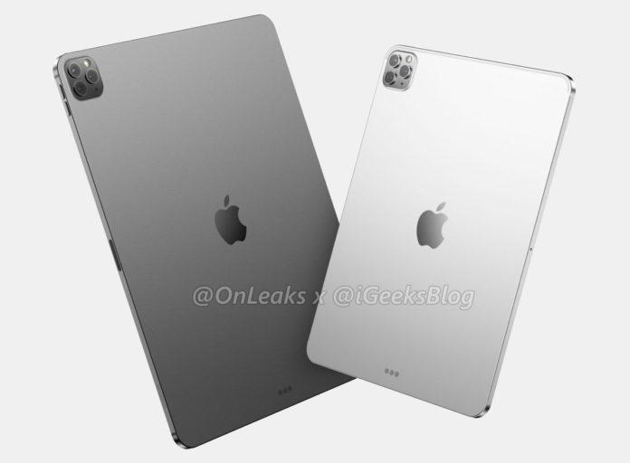 I render iPad Pro 2020 mostrano la tripla fotocamera in stile iPhone 11 Pro