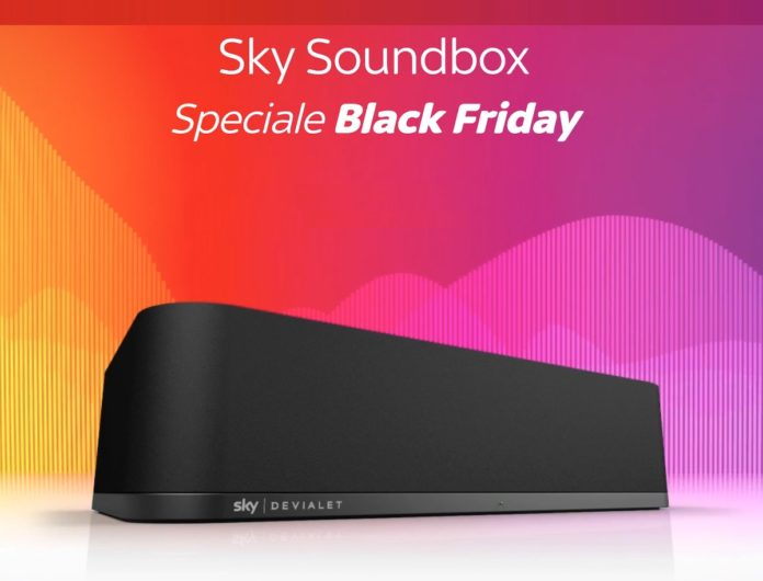Promozione Sky Soundboxfino al Cyber Monday con regalo extra Sky Q per più fedeli, funziona anche con Airplay