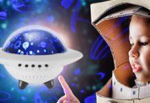 Proiettore di luci a forma di UFO per la camera dei bimbi a soli 19,99 euro spedito
