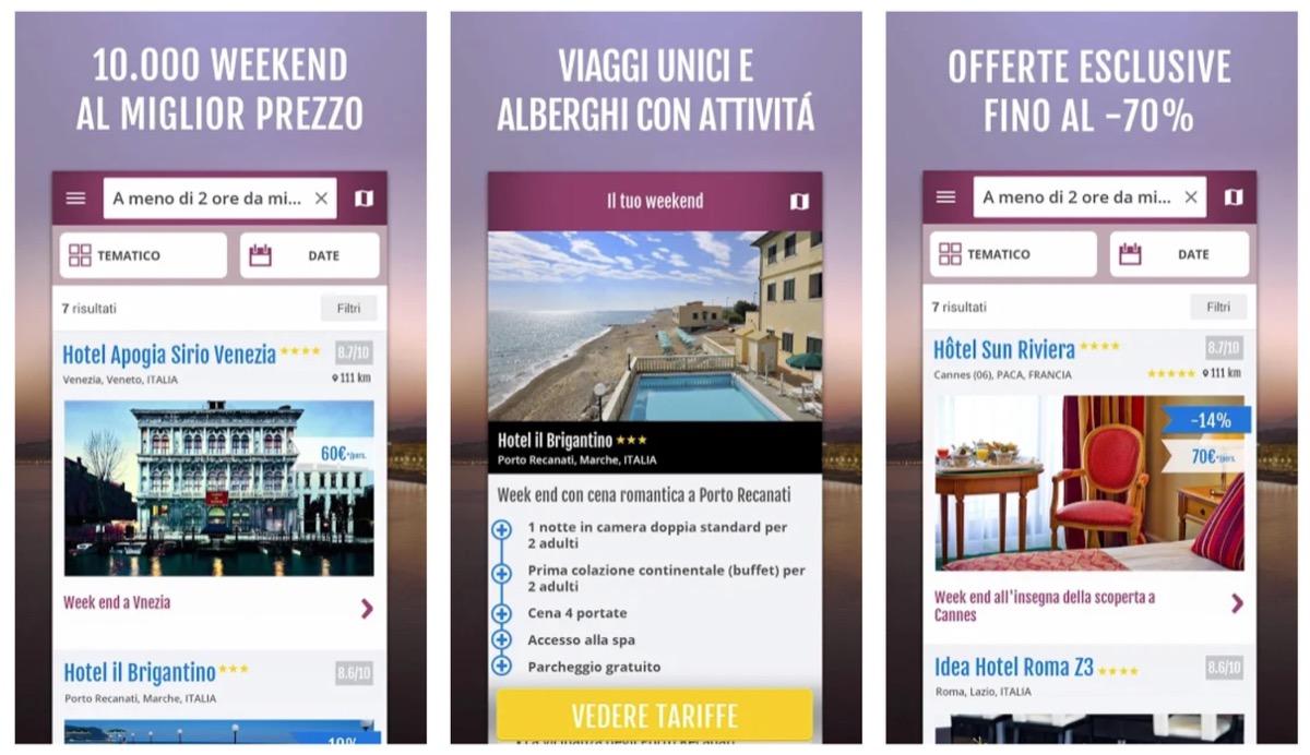 Con l'app Weekendesk l'idea per la gita fuori porta arriva dallo smartphone