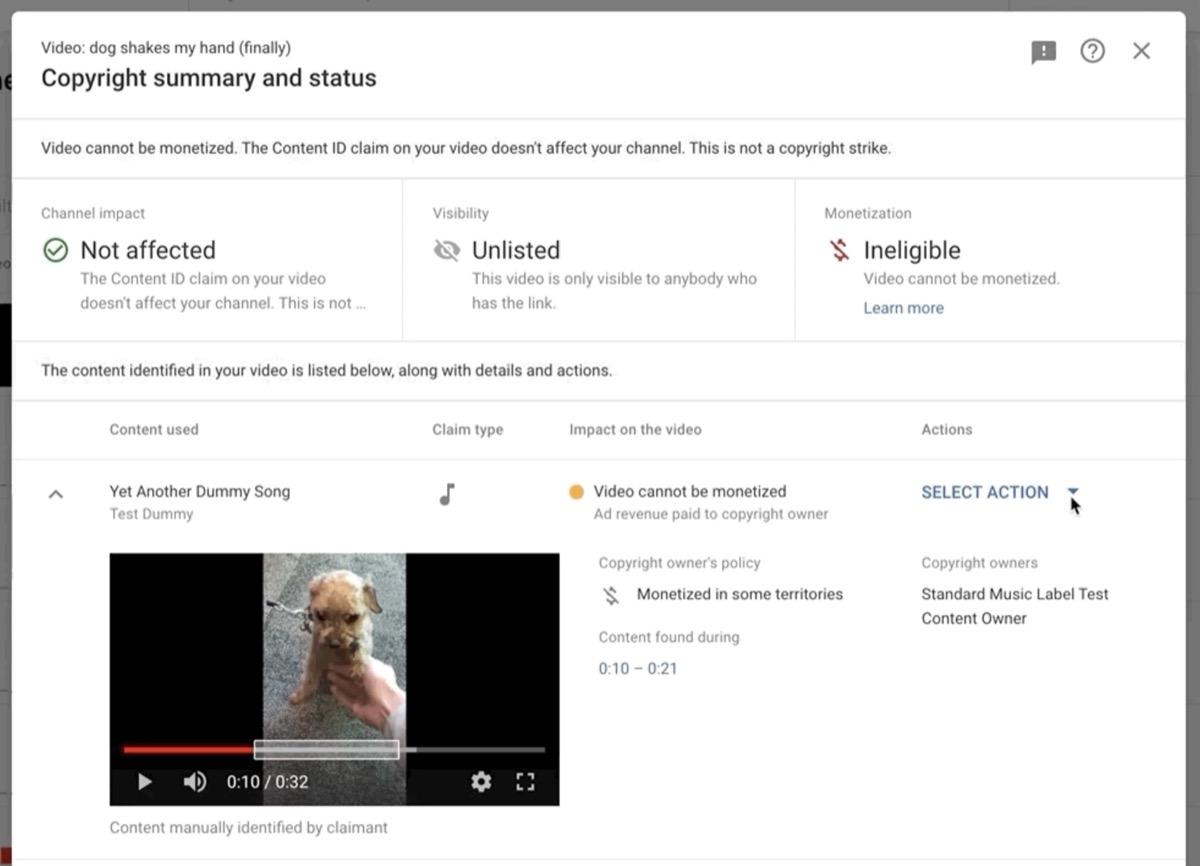 YouTube Studio, più facile risolvere le controversie sul copyright