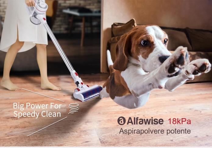 Alfawise AR182BLDC, tra le più economiche scope elettriche verticali: solo 108 euro