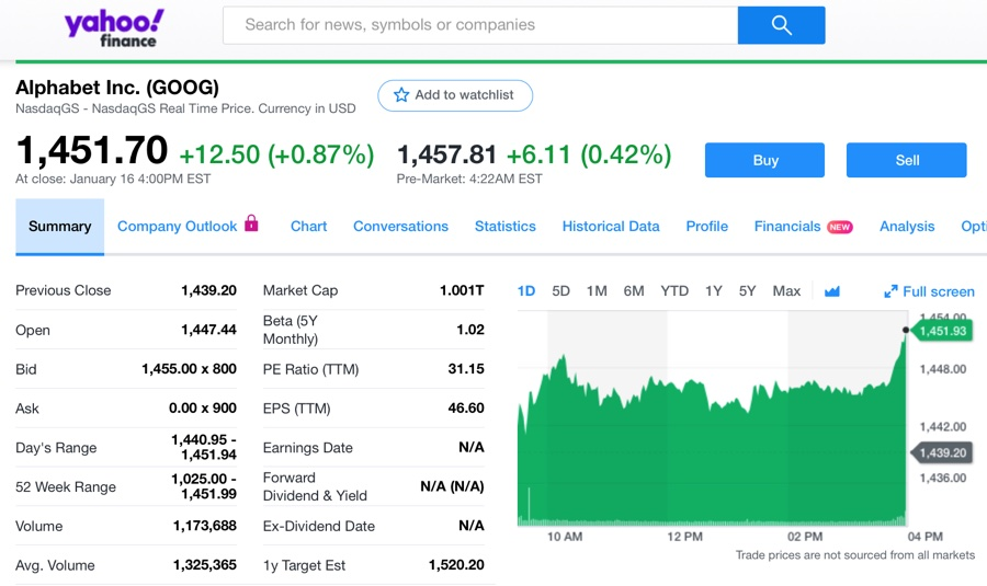 Google entra nel club Apple, Alphabet vale mille miliardi di dollari