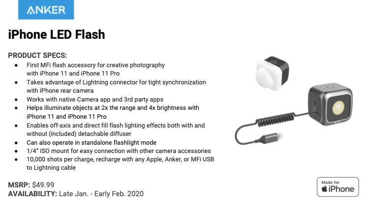 [EMBARGO MARTEDI]Al CES 2020 Anker presenta il primo flash LED Mfi, oltre a batterie portatili, proiettori e altro ancora