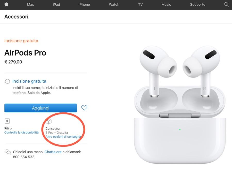 Apple cambia fornitori per AirPods Pro, Apple Watch Serie 6 e iPod touch
