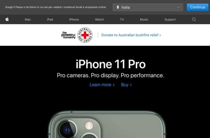 Apple lancia la campagna contro gli incendi in Australia