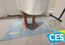 Da Mateo, al CES 2020 il tappetino da bagno che analizza postura e salute
