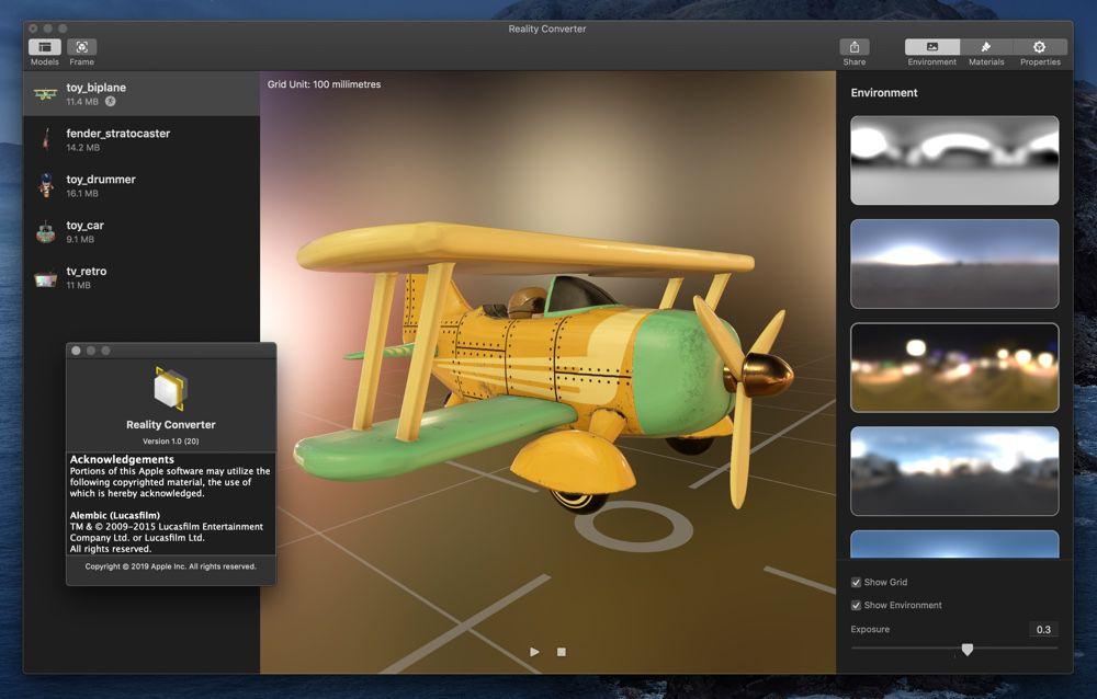 Reality Converter è l'app Mac di Apple per visualizzare e convertire oggetti 3D in formato USDZ
