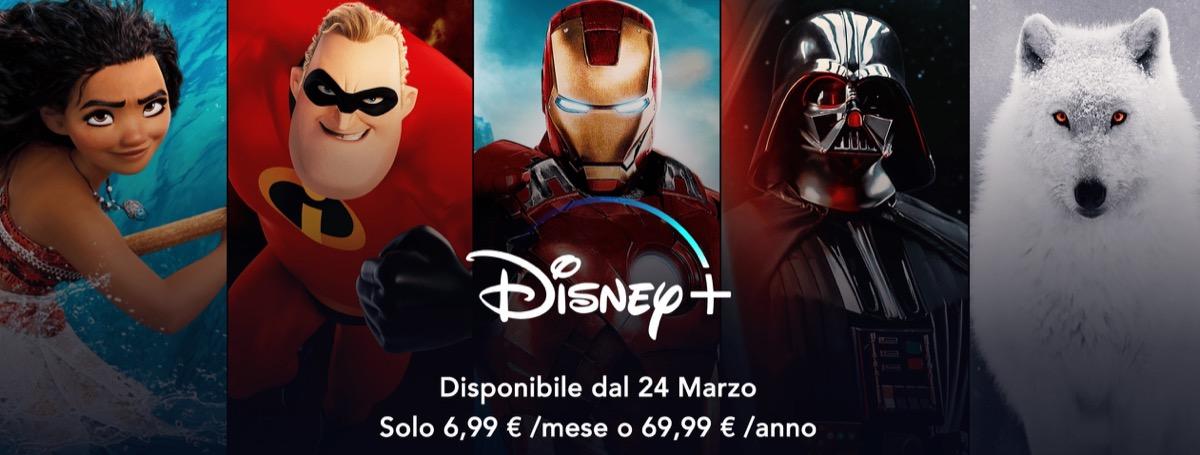Ufficiale: Disney+ in Italia dal 24 marzo a partire da 6,99 euro